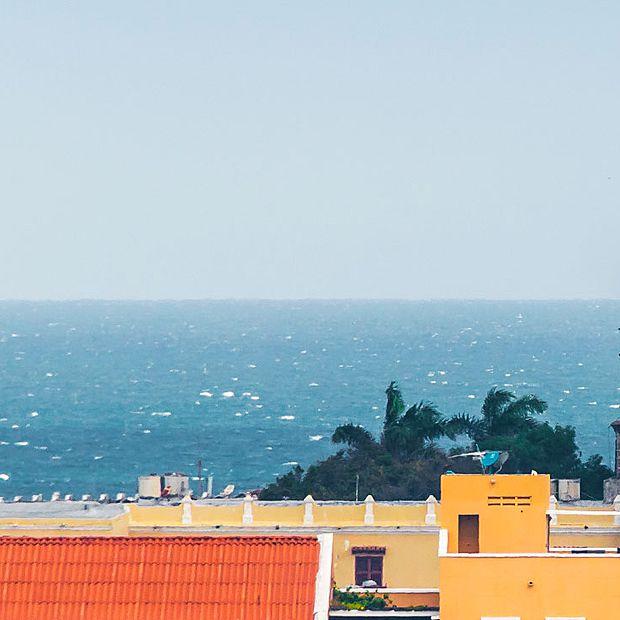 Vista panorámica de la ciudad de Cartagena de Indias y San Pedro