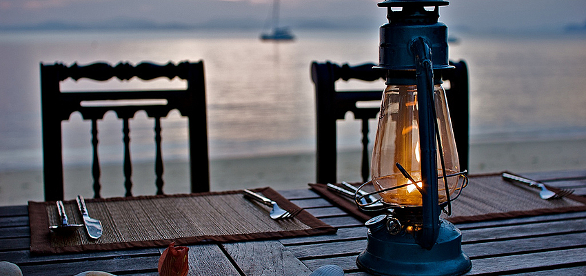 Diner sur l'ile de Koh Yao Yai