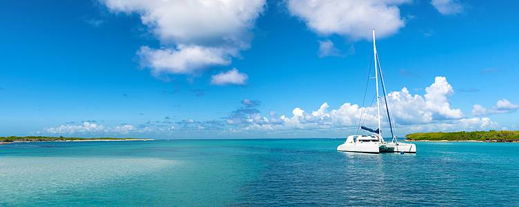 Croisière en catamaran en petit groupe, du lagon de Sainte-Anne à la baie des Saintes