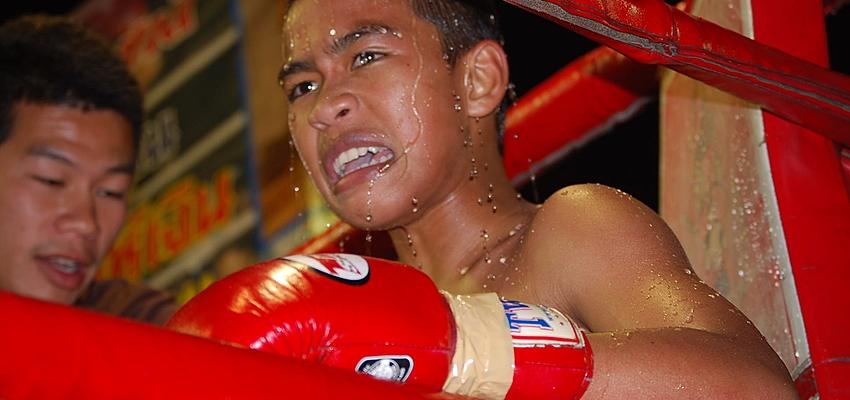 Joven boxeador