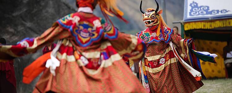 Festival celebration in Bhutan