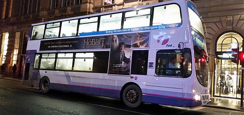 Autobús 18 hacia Glasgow