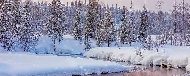 Rêves blancs dans le nord de la Finlande