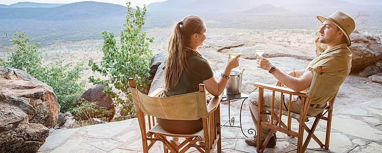 Hochzeitsreise, Safari und Strand