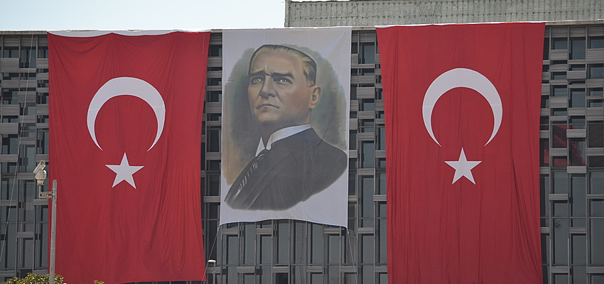 Portrait d'Atatürk à Istanbul