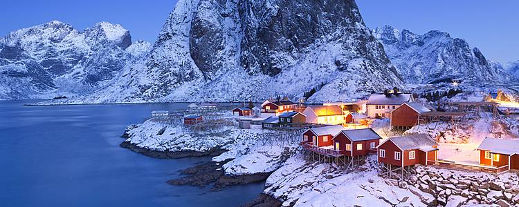 Winter adventure on Lofoten Islands