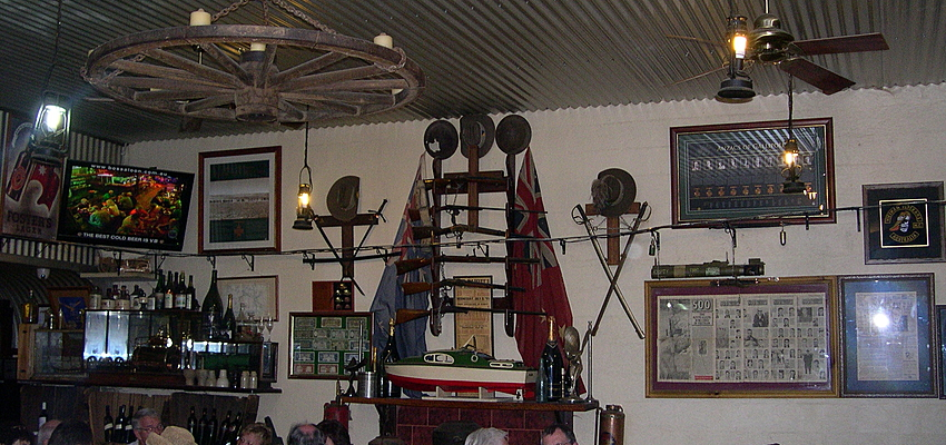 In a restaurant in Alice Springs