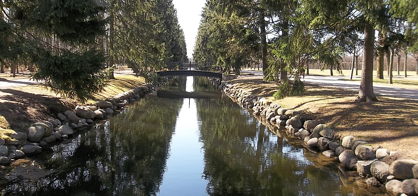 Parque el Palacio Catalina en Pushkin
