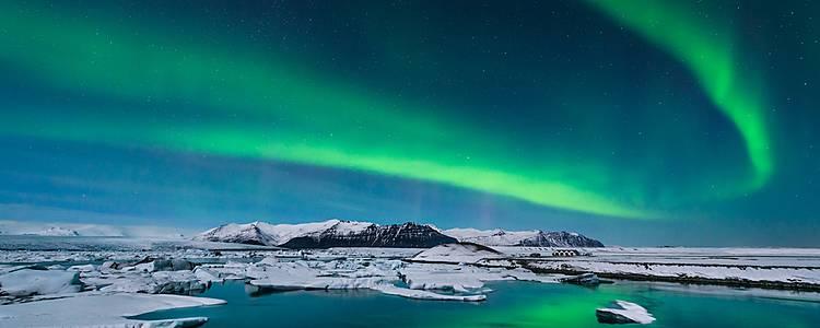Aurores boréales et icebergs - Les essentiels de la côte sud en hiver
