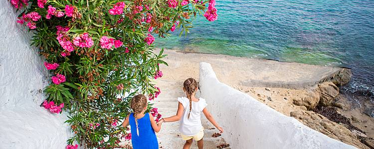La Grecia continental hasta la isla de Paros en familia
