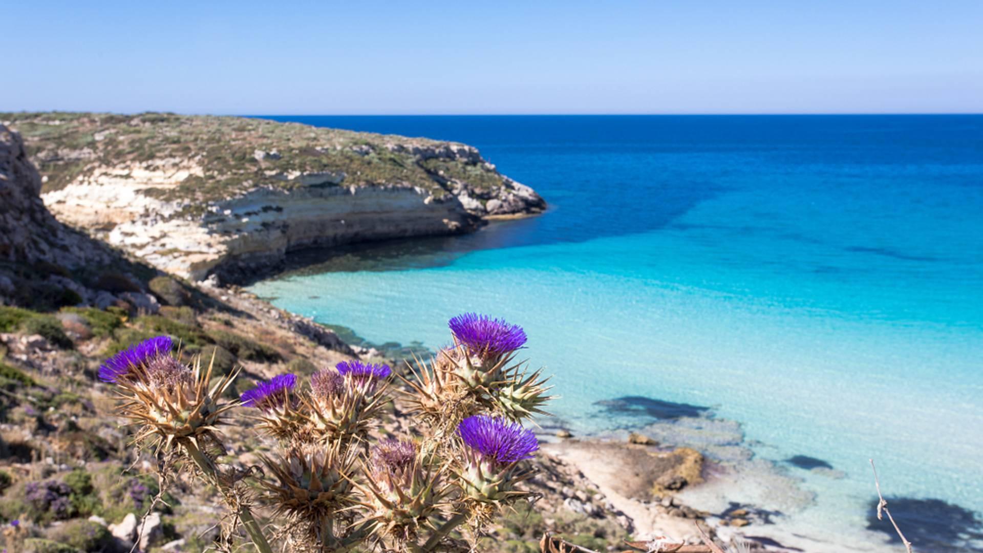 Mare, sole e relax nell'isola di Lampedusa