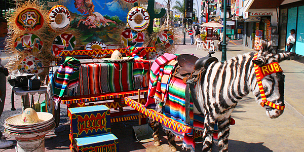 Tourist attraction in the border town of Tijuana