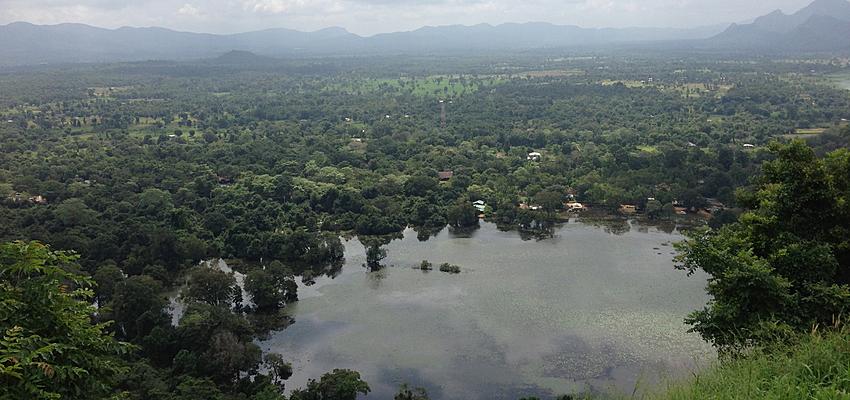 La plaine de Sigirya au Sri Lanka