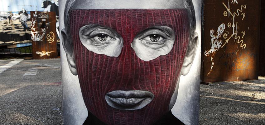 Retrato de Putin hecho por las Pussy Riots