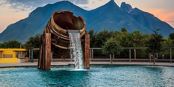 Fuente Crisol lors de la promenade dans le parc Santa Lucia
