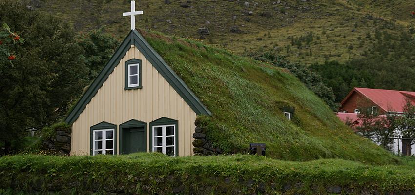 Casa de turba tradicional islandesa