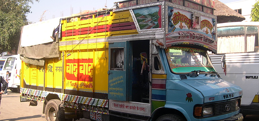 A lorry in Nepal
