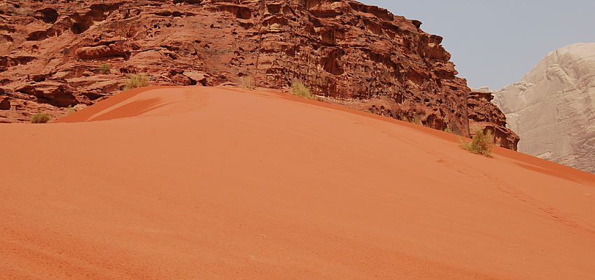 Following the footsteps of Lawrence of Arabia in the Wadi Rum.