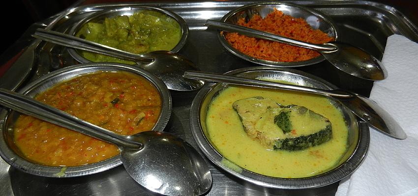 Délicieux plat typique du Sri Lanka