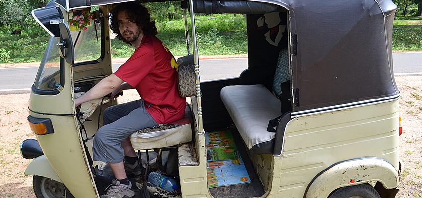Here I am transformed into a tuk-tuk driver
