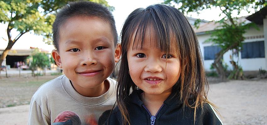 Des enfants laotiens