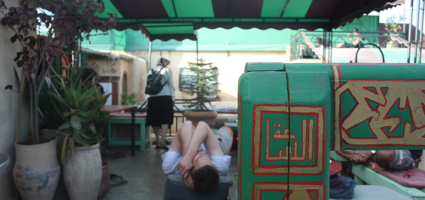Terraza de un restaurante en Marruecos