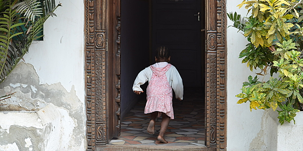 Scène de vie à Lamu