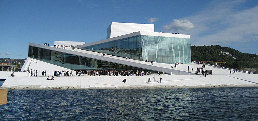 The Oslo Opera House and its accessible roof