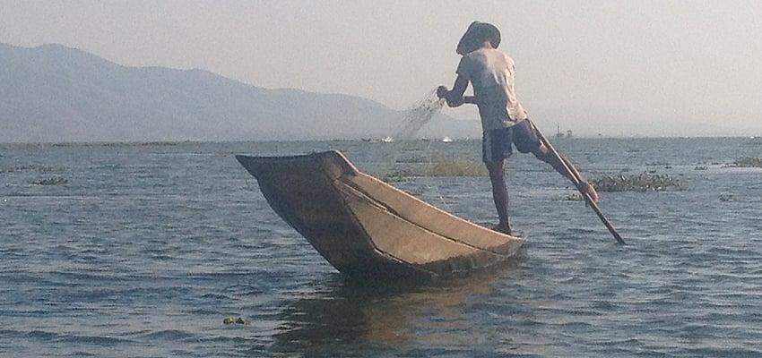 Sur le lac Inle