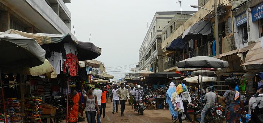 Sur le grand marché de Lomé