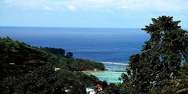 Vista panoramica sull'Anse Royale
