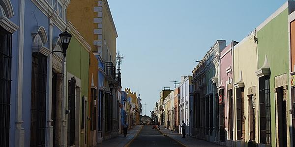 Una calle de Campeche