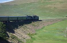 Steppe et désert par le train