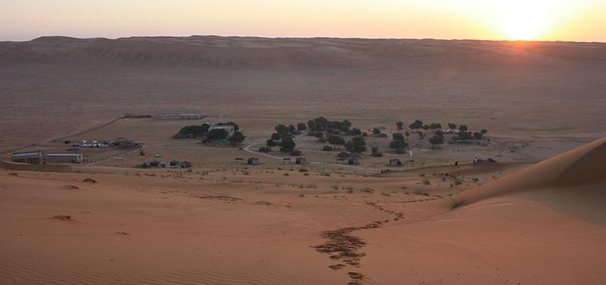Dunes de sable à Oman