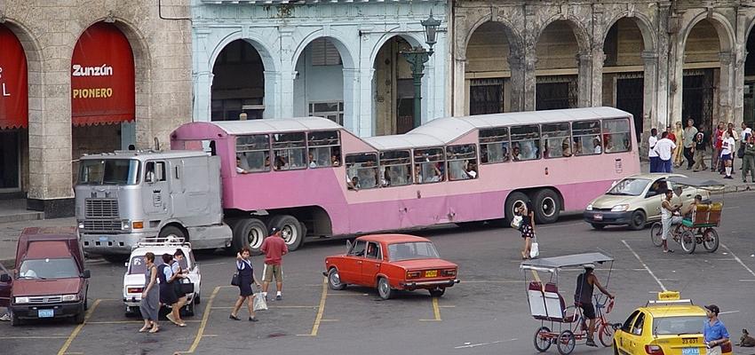 La Havane et ses transports bondés