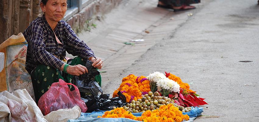 Una calle en el Tíbet