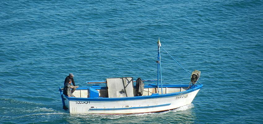 Pêcheur en Tunisie