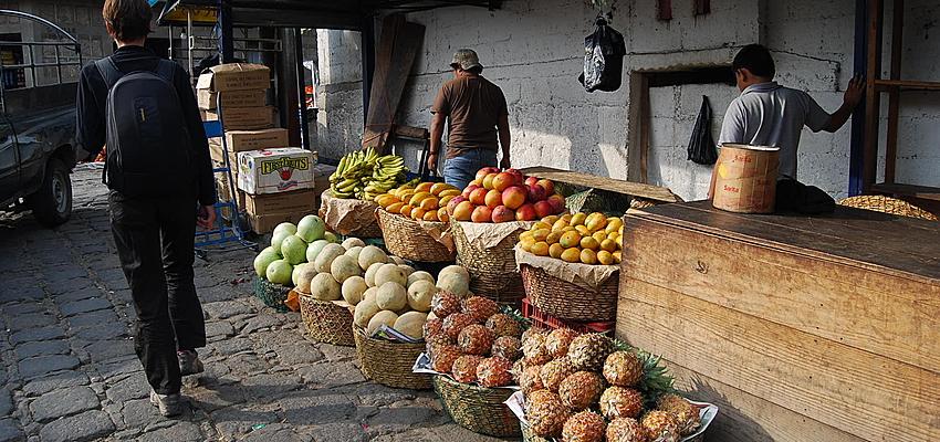 Les fruits sur le marché