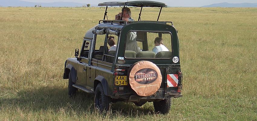 Un todoterreno en Kenia