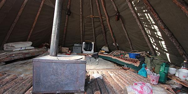 Inside the family teepee