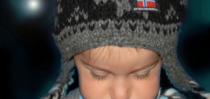 A Norwegian child pouting