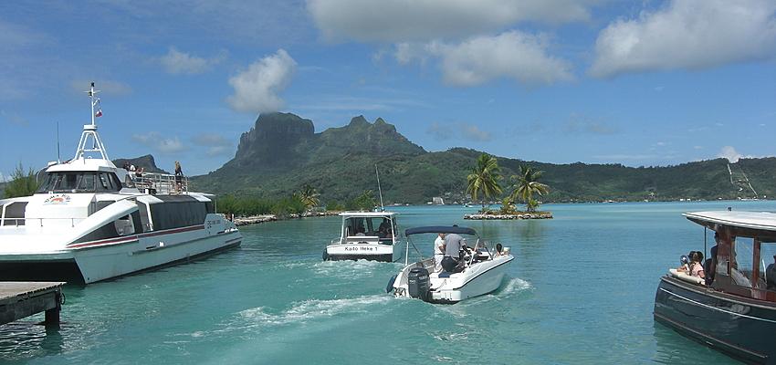 Le transport par bateau à Bora Bora