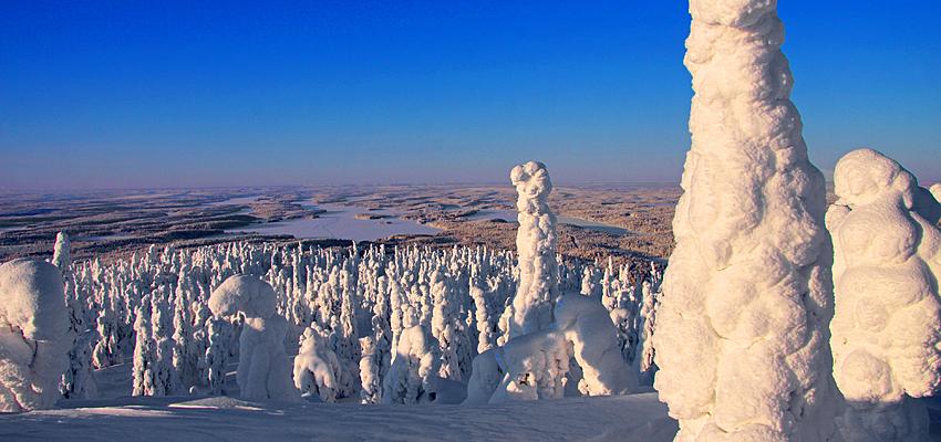 Kuusamo, en la cumbre del monte Livaara.