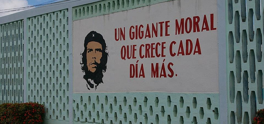 Dans les rues, le Che