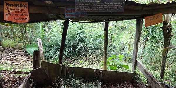 Compostaggio in una fattoria ecologica di Mastatal
