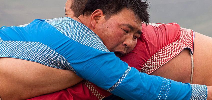 Luchadores en Mongolia