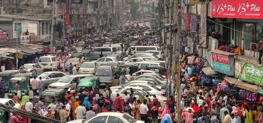 Les rues de Dacca