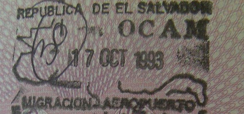 El sello del pasaporte