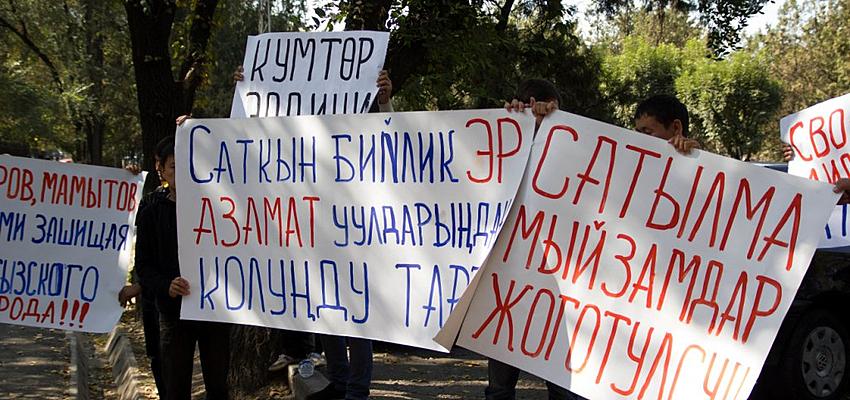 Manifestation au Kirghizistan