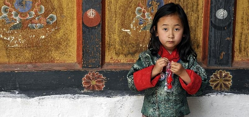 Little girl in Bhutan